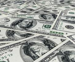 dollar stapel als achtergrond foto