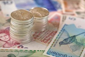 internationale valuta en munten foto