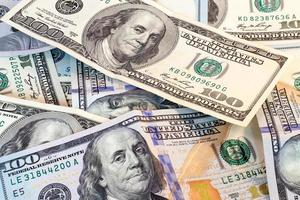 Amerikaanse dollarbankbiljetten foto