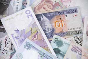 stapel bankbiljetten foto