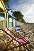 strandstoel strand scène foto