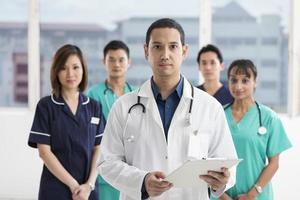 team van multi-etnische medische staf