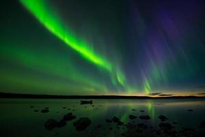 Aurora na zonsondergang