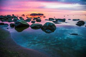 zonsondergang in mei foto