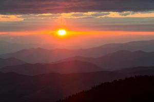 clingmans dome bij zonsondergang