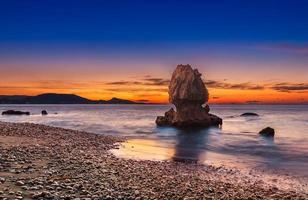 gouden zonsondergang in Rhodos foto