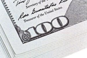 geld en bedrijfsconcept - dollars foto