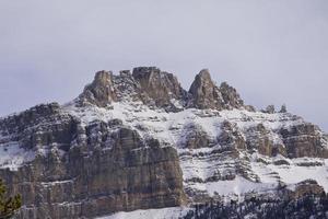 Jasper National Park laat in de herfst landschappen