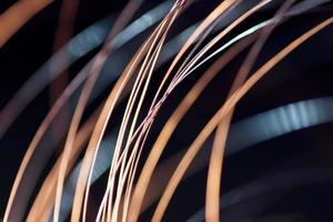 abstracte textuur: cooper kabel intreepupil, wallpaper achtergrond foto