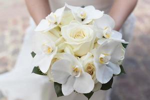 witte bruiloft boeket foto