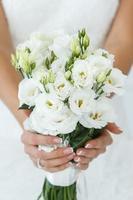 bruiloft. mooie bruid foto