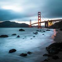 golden gate bridge, beroemd oriëntatiepunt in San Francisco Californië foto