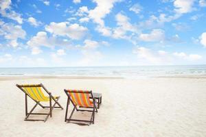 strandstoelen foto