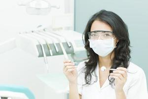 tandarts werkt foto