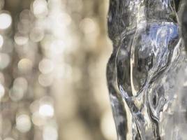 ijspegel, close-up foto