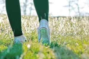 recreatieve wandelingen in de natuur verbeteren uw gezondheid foto