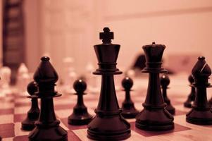 schaken close-up foto