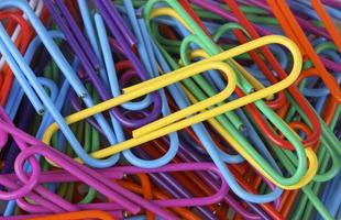 paperclips close-up foto