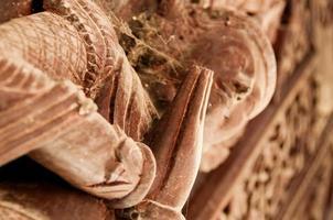 houten apsara close-up foto