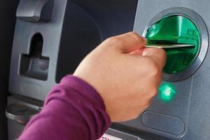 ATM close-up foto