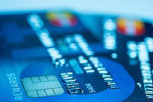 sluit omhoog creditcard foto
