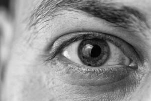 enkel oog close-up foto