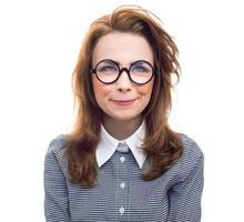 close-up trendy vrouw foto