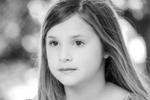 jong meisje close-up foto