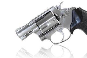 close up van revolver foto