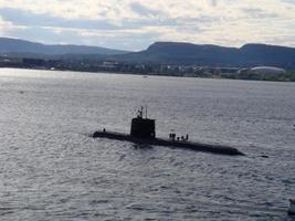 onderzeeër - Noorwegen close-up foto