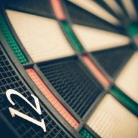 dartbord, close-up foto
