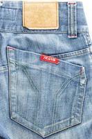 close-up blauwe jean foto
