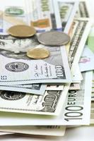 verschillende valutaclose-up foto