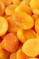 gedroogde abrikozen close-up foto
