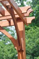 houten pergola close-up foto