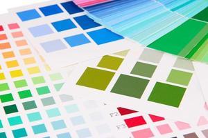 kleurstalen close up foto