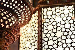 Arabisch licht - sluit omhoog foto