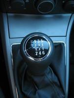 handmatige versnelling close-up. foto