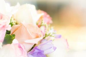 close up zachte bloemen foto