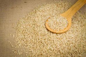 bruine rijst gesloten foto