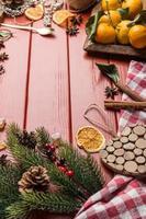 kerst eten frame foto