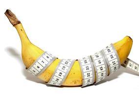 grote banaan, zoals de grote penis van de mens, groot formaat foto