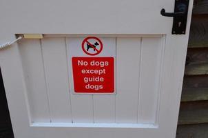 geen honden ondertekenen. foto