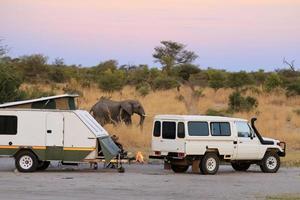 kamperen in Afrika foto