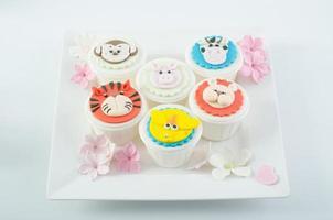 schattige cupcakes ontwerpen dieren foto