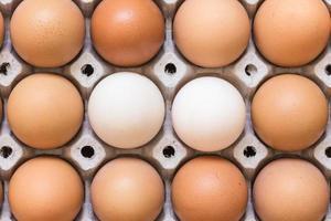 eieren in papierlade foto