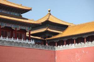 de verboden stad in Peking, China foto