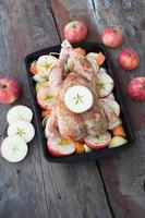 gebraden kip met appel en groenten foto