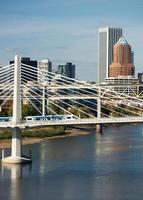 tilikum kruising portland oregon nieuwe brug constructie willamette rivier foto