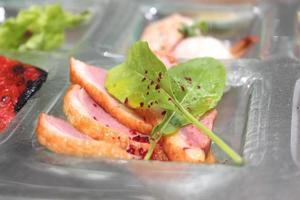 salade van geroosterde eendeneend foto